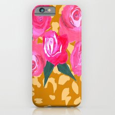 Floral and Tiger Print iPhone 6s Slim Case