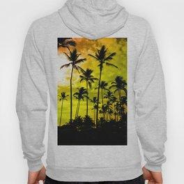 Black Palm Trees Hoody