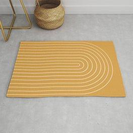 Minimalist Arch IX - Golden Yellow Rug