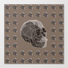 Geometric skulls Canvas Print
