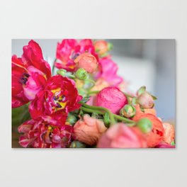 Fiery Red Flowers Canvas Print