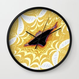 Unidentified Fractal Object Wall Clock