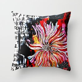 big messy flower Throw Pillow