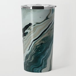 Tranquil Arctic Painting Marble Travel Mug
