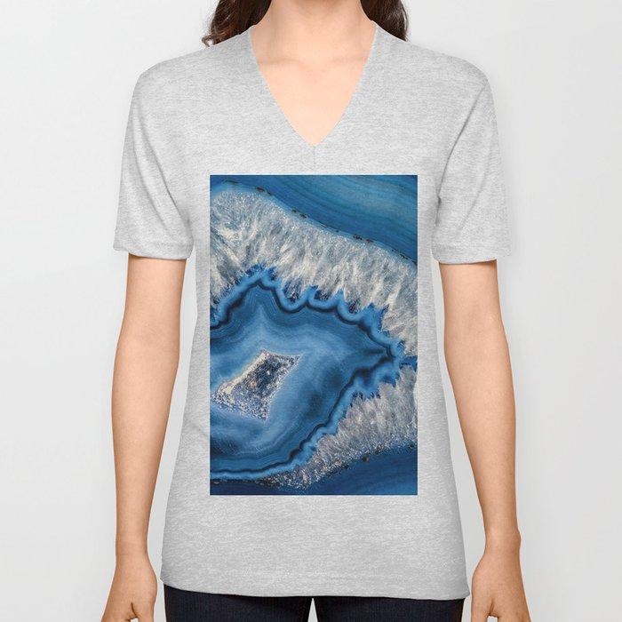 Blue agate 3064 Unisex V-Neck