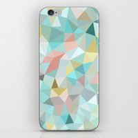 pastel iPhone & iPod Skins featuring Pastel Tris by Beth Thompson