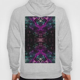 Textured Graffiti Print Hoody