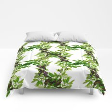 Blueberry Branch in Spring Comforters