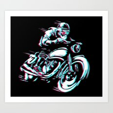 HIPSTER HOT RIDE Art Print