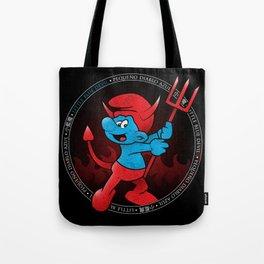 The Little Blue Devil Tote Bag