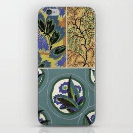 vintage natural pattern iPhone Skin
