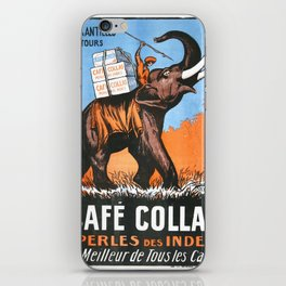 Vintage poster - Café Collas Coffee iPhone Skin