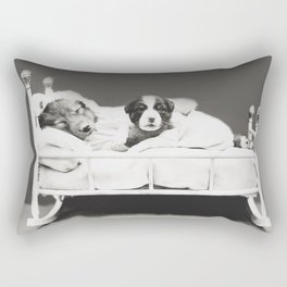 Harry Whittier Frees - Puppy With Insomnia Rectangular Pillow