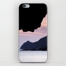 Half Moon beach. Vela tower cliff. iPhone Skin