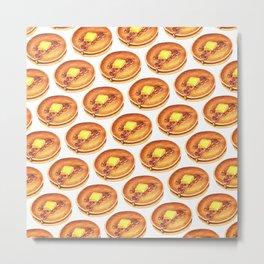 Pancakes Pattern Metal Print