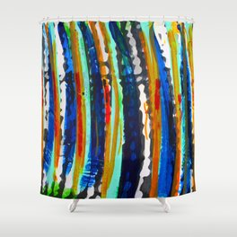 Tribal Stripes  Shower Curtain