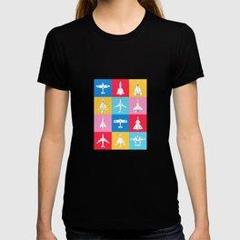 Classic Iconic Aircraft Pattern - International T-shirt