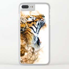 Smoking tiger Clear iPhone Case