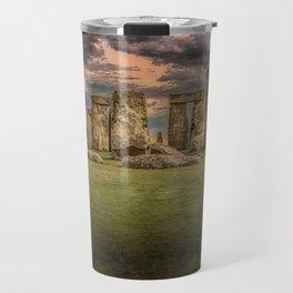 Stonehenge Panoramic Landscape Travel Mug