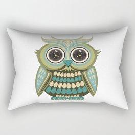 Star Eye Owl - Green Rectangular Pillow
