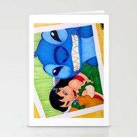 lilo and stitch Stationery Cards featuring Lilo & Stitch Selfie by Olivia Iman