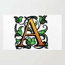 'A' - Alphabet Monogram Letter Rug