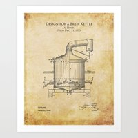 1930s Design for a Brew Kettle Art Print