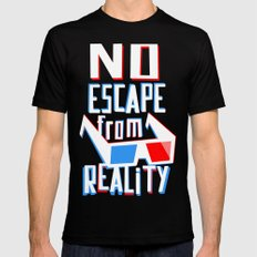 No escape from reality MEDIUM Black Mens Fitted Tee