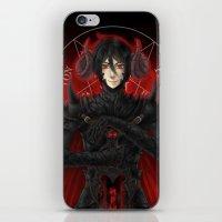 kuroshitsuji iPhone & iPod Skins featuring KUROSHITSUJI - SEBASTIAN MICHAELIS BLACK KNIGHT by zero0810