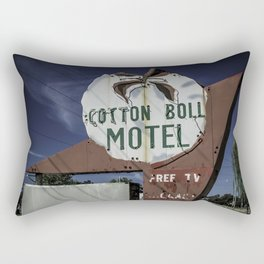 Cotton Boll Motel Sign Route 66 Rectangular Pillow