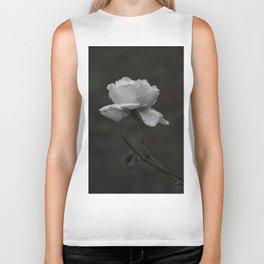 Black and White Rose Biker Tank