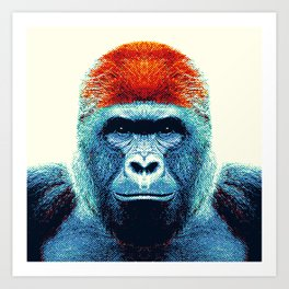 Gorilla -  Colorful Animals Art Print