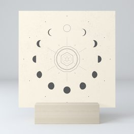 Moon Phases Light Mini Art Print