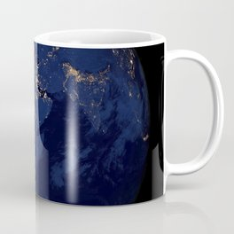 Image of Europe Africa and the Middle East at night Coffee Mug