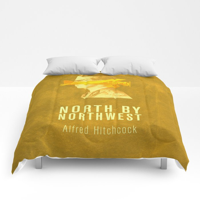 NORTH BY NORTHWEST - Hitchcok Poster Comforters