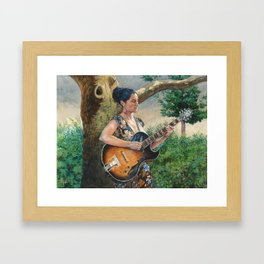 Summer Concert Framed Art Print