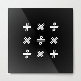 Math Symbol Art Metal Print