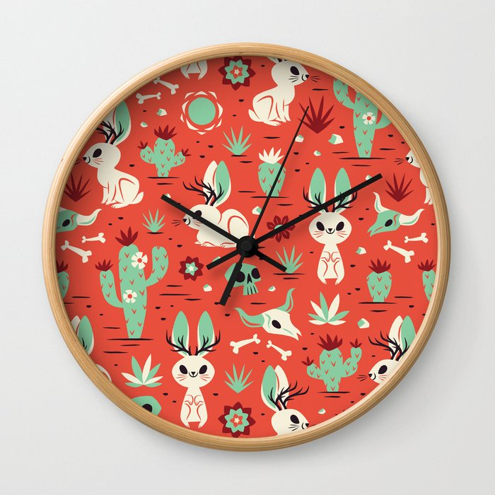 Cryptid Cuties: The Jackalope Wall Clock