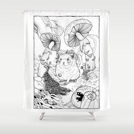 Hamster In Wonderland Shower Curtain