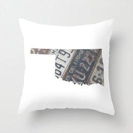 Vintage Oklahoma Throw Pillow