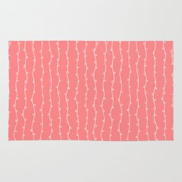 Willow Stripes - Coral Pink Rug