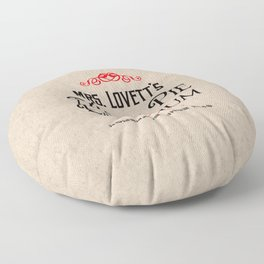 Mrs. Lovett's Meat Pie Emporium (Sweeney Todd) Floor Pillow