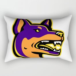 Australian Kelpie Dog Mascot Rectangular Pillow