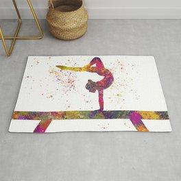 Rhythmic gymnastics competition in watercolor 05 Rug