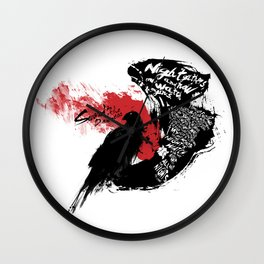IM THE SWORD IN THE DARKNESS Wall Clock