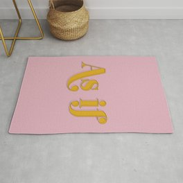 As if Clueless Quote Retro Pastel Pink Rug