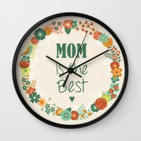 mom Wall Clocks featuring MOM by Vic Torys