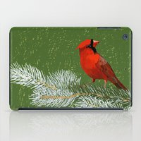 cardinal iPad Cases featuring Cardinal by Janko Illustration