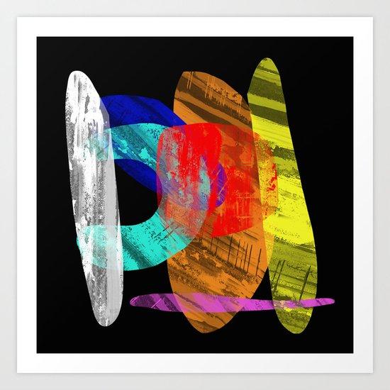 Pastel Pieces - Abstract, pastel artwork Art Print