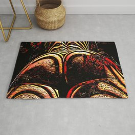 2574s-RES Abstract Nude Ass Butt Bum Tush Painting Rug